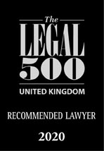 Legal 500 2020 Recommended Lawyer Logo, Mincoffs Solicitors